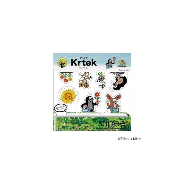 stipee(スティッピー) Krtek(クルテク) 貼って剥がせるクリアブックマーク(付箋/ふせん) クルテク Vol.2 STW-018