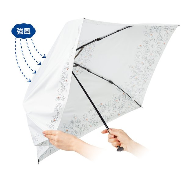 mabu 風に耐える軽量折り畳み晴雨兼用UV遮熱傘 673601
