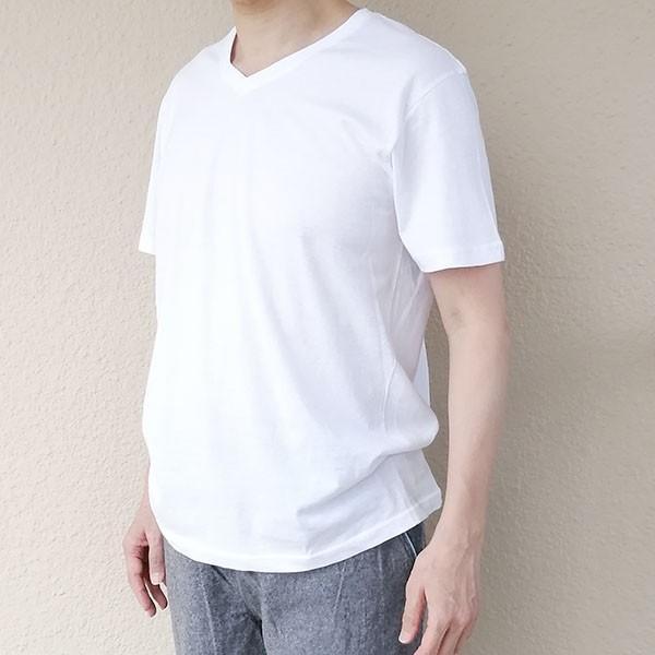 メンズ 半袖 Tシャツ 綿100% 天竺 V首 Vネック|direct-factory|02