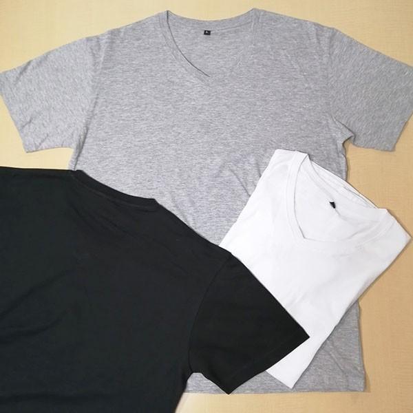 メンズ 半袖 Tシャツ 綿100% 天竺 V首 Vネック|direct-factory|09