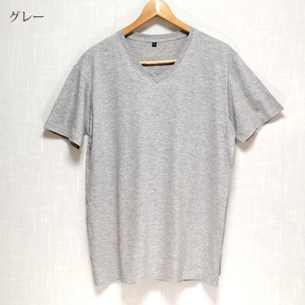メンズ 半袖 Tシャツ 綿100% 天竺 V首 Vネック|direct-factory|13