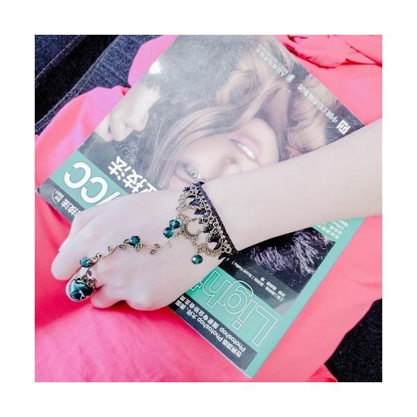 ブレスレット アクセサリー チャーム ジュエリー レディース 雑貨 ファッション雑貨 チェーン 花 フラワー エメラルド 指輪 リング