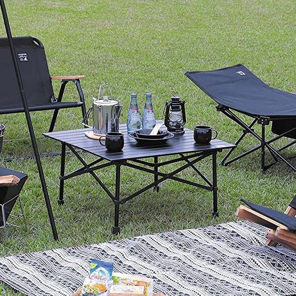 アウトドア テーブル キャプテンスタッグ CSブラックラベル アルミツーウェイロールテーブル 70 UC-534 ハイテーブル ローテーブル 2WAY CAPTAIN STAG|discount-spirits2|02