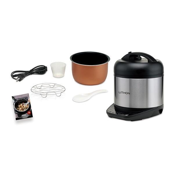圧力鍋 電気 使いやすい 電気圧力鍋 人気 おすすめ 2l フライパン 鍋 圧力 レシピ 温度 蒸し ご飯 玄米 おかゆ 自動圧力 圧力調理|discount-spirits2|10