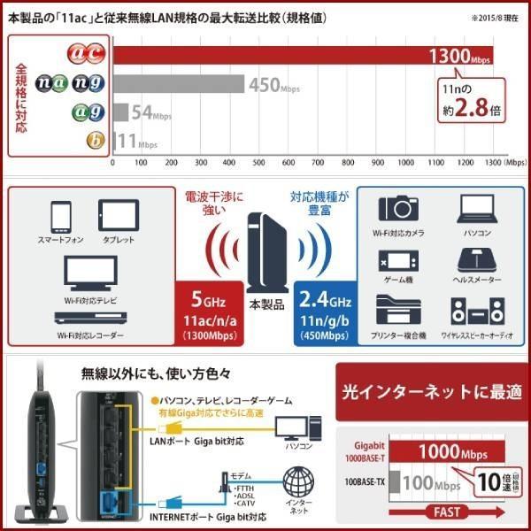 無線LANルーター 無線ルーター バッファロー WXR-1750DHP 無線LAN親機 11ac/n/a/g/b ワイヤレス AOSS2 WiFiルーター 保証なし 訳あり|discount-spirits2|05