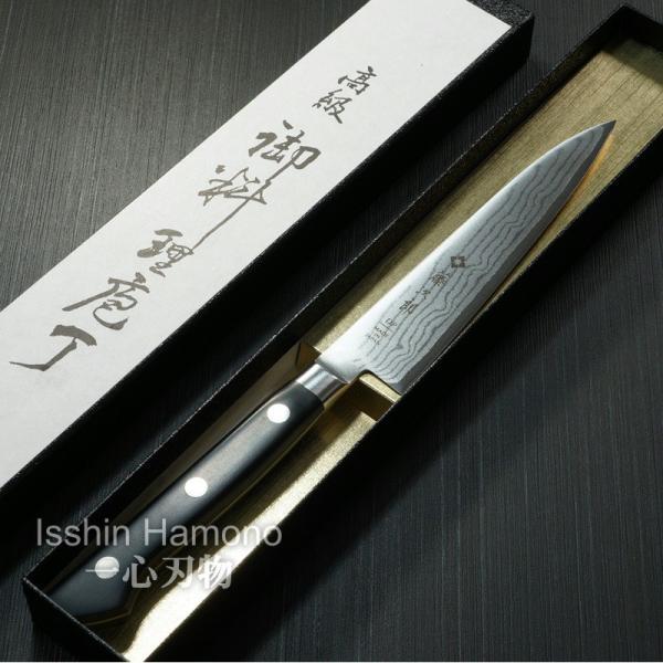 包丁 ペティナイフ 120mm 藤次郎 V金10号 37層ダマスカス鋼 口金付 霞流し 日本製|discovery-shop|07