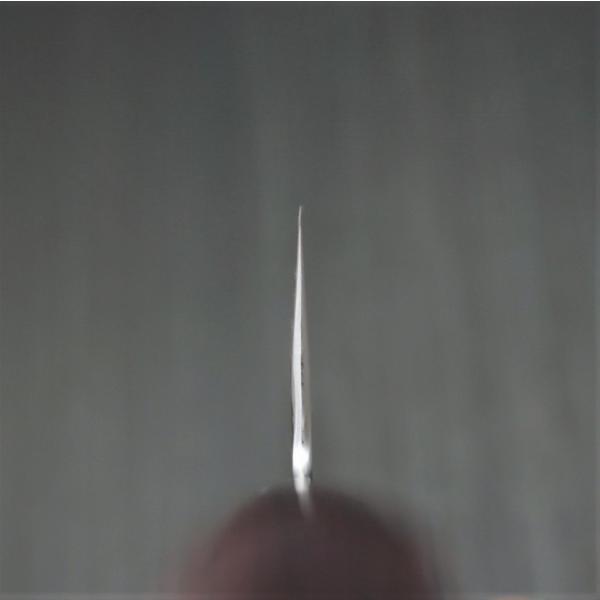 包丁 三徳 175mm 粉末ステンレスハイス スーパーゴールド2 槌目 カトウ打刃物製作所 越前打刃物 金太郎作 口金付赤黒合板柄 日本製 discovery-shop 09