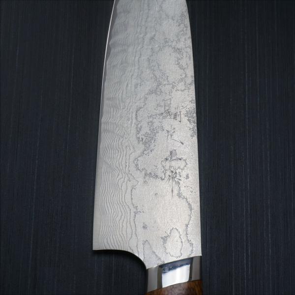 包丁 三徳 185mm 越前打刃物 粉末ステンレスハイス スーパーゴールド2 積層ダマスカス鋼 アイアンウッド柄 片山雄太 日本製|discovery-shop|06