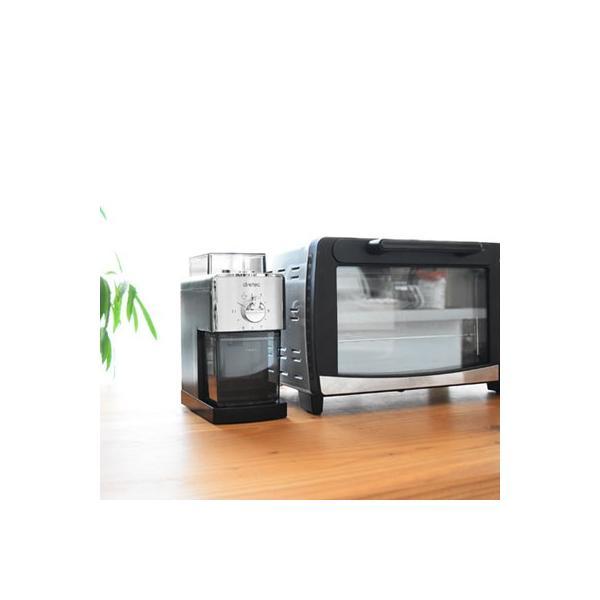コーヒーミル 電動 うす式 コーヒーグラインダー 送料無料 ドリップ エスプレッソ サイフォン おしゃれ コンパクト ドリテック|dish|07