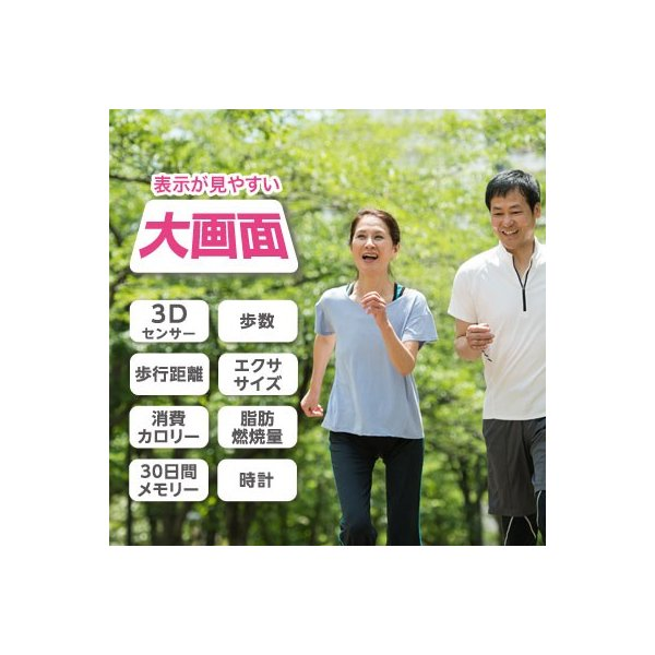 歩数計 ウォーキング ジョギング 運動  消費カロリー  脂肪燃焼量 エクササイズ 母の日 敬老の日 プレゼント 健康管理|dish|02