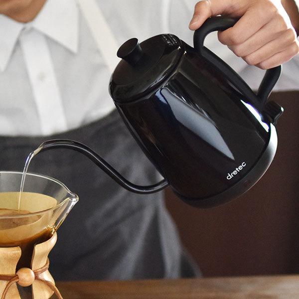 電気ケトル ステンレス ケトル 1.0L おしゃれ ドリップ 電気ポット かわいい 簡単 カフェケトル 細口 珈琲 紅茶 coffee kettle|dish|05