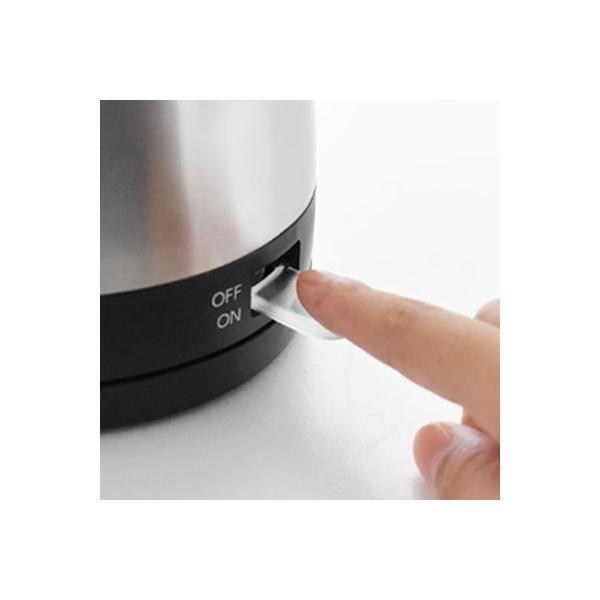電気ケトル ステンレス 1.0L おしゃれ ドリップ コーヒー 電気ポット 細口 簡単 カフェケトル 珈琲 紅茶 注ぎやすい coffee kettle po-350 dish 04