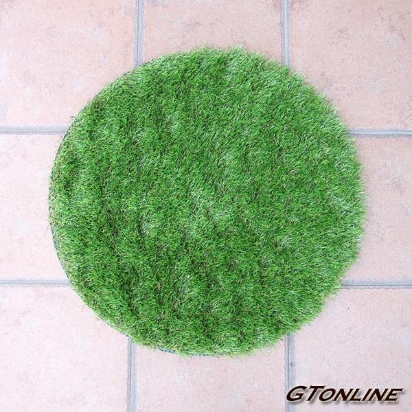 リアル人工芝 芝生マット 円形 直径60cm(600mm)玄関マットなど自由にアレンジ 人やペットに無害な高品質人工芝 丸形 高麗芝 日本芝 インテリア エクステリア
