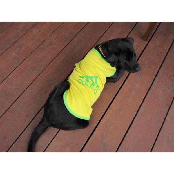 犬服 adidog タンクトップ(中型犬用)犬の服2点購入でメール便送料無料 ドッグウェア アディドッグ|dism|02