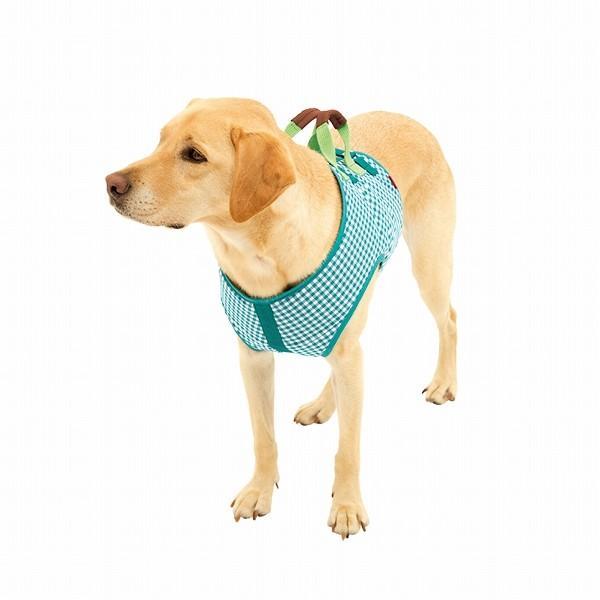 大型犬 LaLaWalk 歩行補助ハーネス 犬 ガーデン 2TA0051-45 犬用介護用品 介助ベスト 介護用 グリーンチェック ララウォーク 中型犬