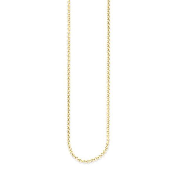 トーマス サボ THOMAS SABO ネックレス チェーン シルバー 金メッキ サイズS 45cm ミニベルチャーチェーン KE1219-413-12-S