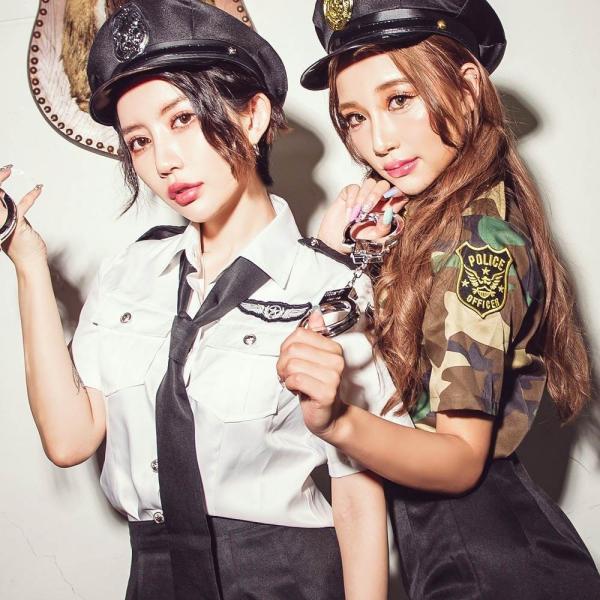 ハロウィン コスプレ ポリス コスチューム 衣装 婦人警官  レディース 仮装 計5点フルセット|dita