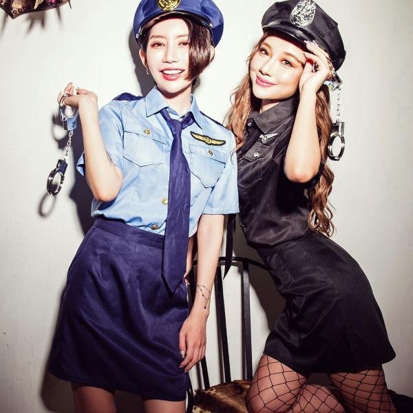 ハロウィン コスプレ ポリス コスチューム 衣装 婦人警官  レディース 仮装 計5点フルセット|dita|10