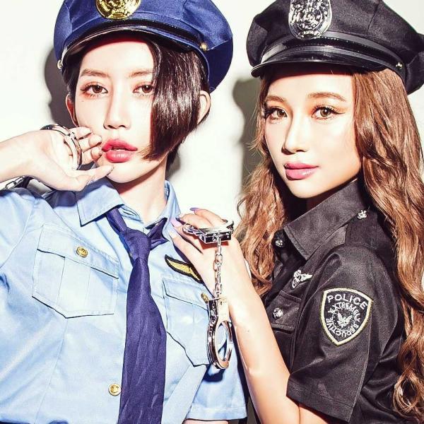 ハロウィン コスプレ ポリス コスチューム 衣装 婦人警官  レディース 仮装 計5点フルセット|dita|11