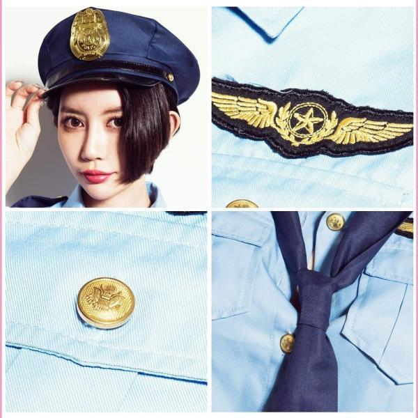 ハロウィン コスプレ ポリス コスチューム 衣装 婦人警官  レディース 仮装 計5点フルセット|dita|13