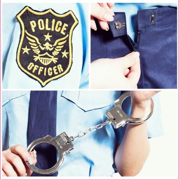 ハロウィン コスプレ ポリス コスチューム 衣装 婦人警官  レディース 仮装 計5点フルセット|dita|14