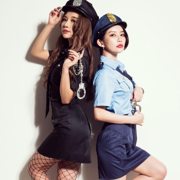 ハロウィン コスプレ ポリス コスチューム 衣装 婦人警官  レディース 仮装 計5点フルセット|dita|07