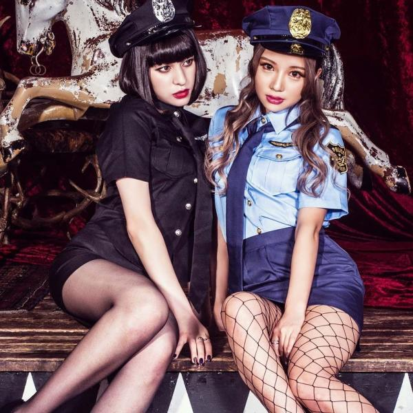 ハロウィン コスプレ ポリス コスチューム 衣装 婦人警官  レディース 仮装 計5点フルセット|dita|08