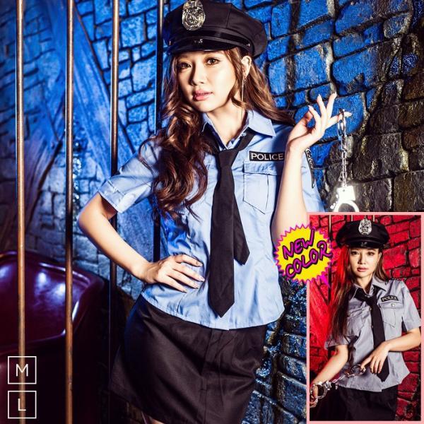 レディース 警察 ポリス costume【コスチューム】セクシーポリス/全2色 5点セット(シャツ、スカート、帽子、ネクタイ、手錠)|dita