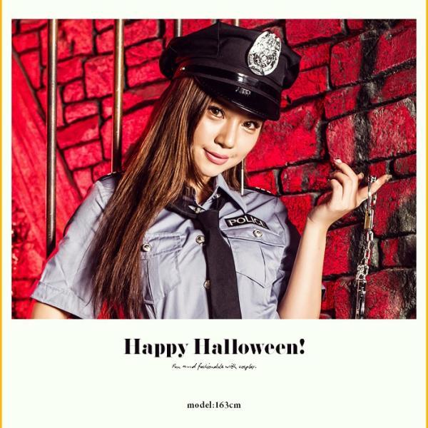 レディース 警察 ポリス costume【コスチューム】セクシーポリス/全2色 5点セット(シャツ、スカート、帽子、ネクタイ、手錠)|dita|02