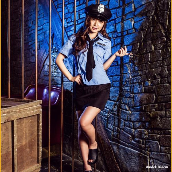レディース 警察 ポリス costume【コスチューム】セクシーポリス/全2色 5点セット(シャツ、スカート、帽子、ネクタイ、手錠)|dita|03