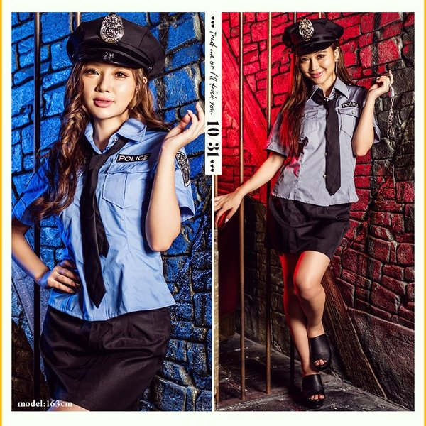 レディース 警察 ポリス costume【コスチューム】セクシーポリス/全2色 5点セット(シャツ、スカート、帽子、ネクタイ、手錠)|dita|04