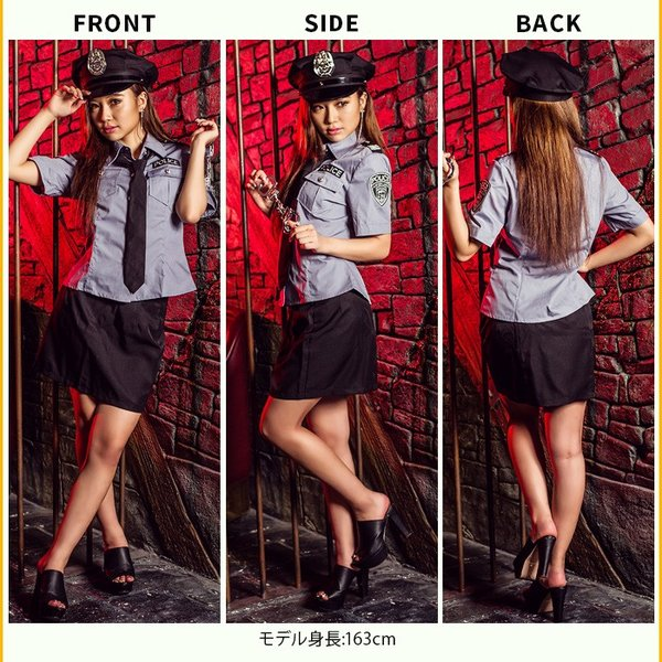 レディース 警察 ポリス costume【コスチューム】セクシーポリス/全2色 5点セット(シャツ、スカート、帽子、ネクタイ、手錠)|dita|06
