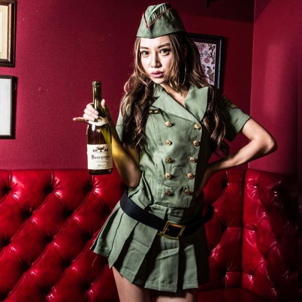 ポリス 警察 コスプレ レディース costume【コスチューム】アーミーポリス2/全1色(ワンピース、ベルト、帽子、拳銃の4点セット)|dita