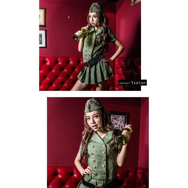 ポリス 警察 コスプレ ハロウィン costume【コスチューム】アーミーポリス2/全1色(ワンピース、ベルト、帽子、拳銃の4点セット)|dita|02