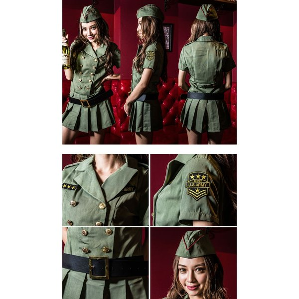 ポリス 警察 コスプレ ハロウィン costume【コスチューム】アーミーポリス2/全1色(ワンピース、ベルト、帽子、拳銃の4点セット)|dita|03