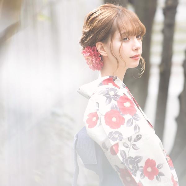 浴衣 2018 レトロ レディース 京都本格 女性浴衣4点フルセット(ゆかた・つくり帯・下駄・着付け本) 夏のガーリーレトロ ひまわり 可愛い|dita|12