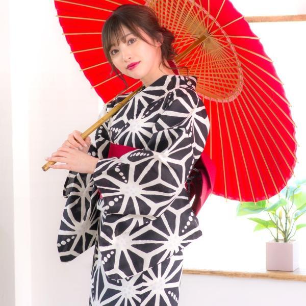 浴衣 2018 レトロ レディース 京都本格 女性浴衣4点フルセット(ゆかた・つくり帯・下駄・着付け本) レトロガーリーポップ 一人で簡単に着られる作り帯|dita|07