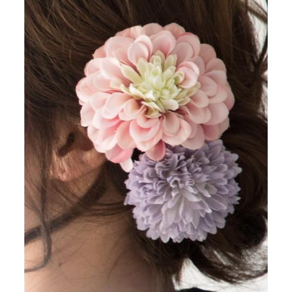浴衣 髪飾り ピンポンマム 選べる10色 ゆかた姿を引き立てるアクセサリー 選べる10色 可愛い 髪かざり 小物 初心者もOK|dita|11
