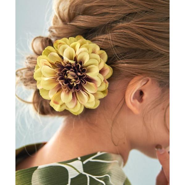 浴衣 髪飾り ピンポンマム 選べる10色 ゆかた姿を引き立てるアクセサリー 選べる10色 可愛い 髪かざり 小物 初心者もOK|dita|12