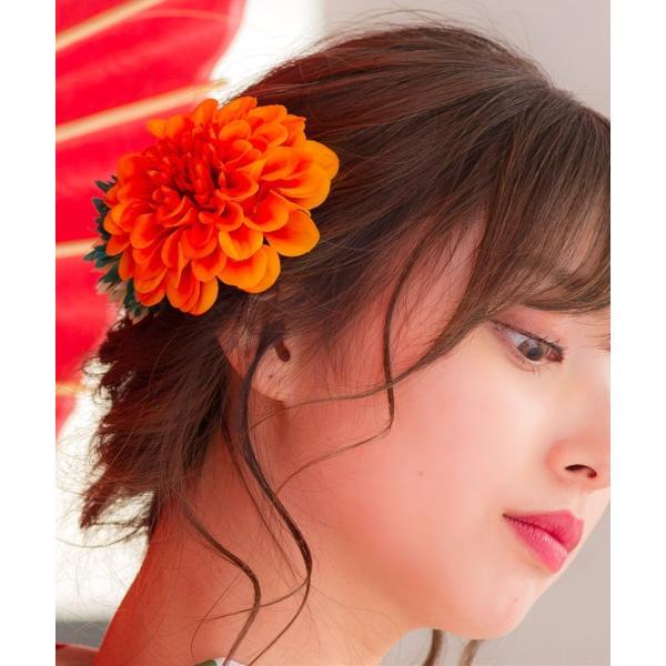 浴衣 髪飾り ピンポンマム 選べる10色 ゆかた姿を引き立てるアクセサリー 選べる10色 可愛い 髪かざり 小物 初心者もOK|dita|13