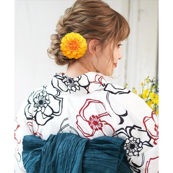 浴衣 髪飾り ピンポンマム 選べる10色 ゆかた姿を引き立てるアクセサリー 選べる10色 可愛い 髪かざり 小物 初心者もOK|dita|14