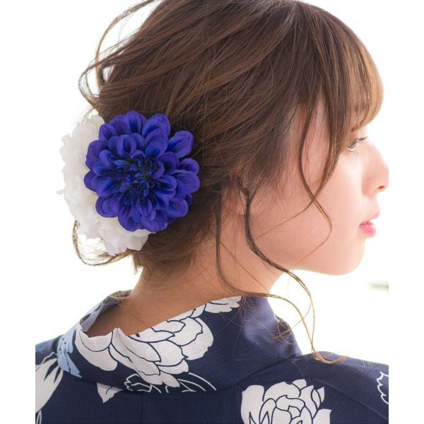 浴衣 髪飾り ピンポンマム 選べる10色 ゆかた姿を引き立てるアクセサリー 選べる10色 可愛い 髪かざり 小物 初心者もOK|dita|15