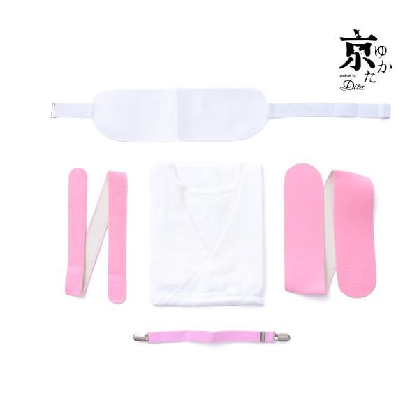 レディース 肌着 着付けセット(肌着)浴衣夏の浴衣姿を快適にしてくれる、必須のインナー5点セット2018年 浴衣 着付け小物 着付けセット スリット|dita|06