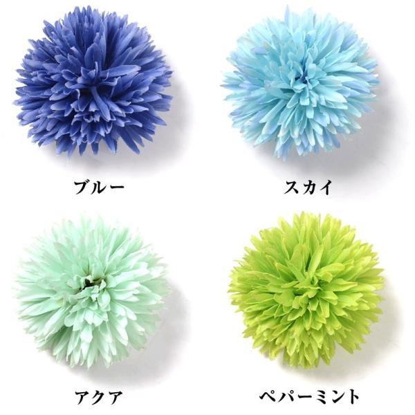 髪飾り ゆかた姿を引き立てる選べる15色 ピンポンマム  髪飾り かんざし コサージュ かみかざり|dita|03