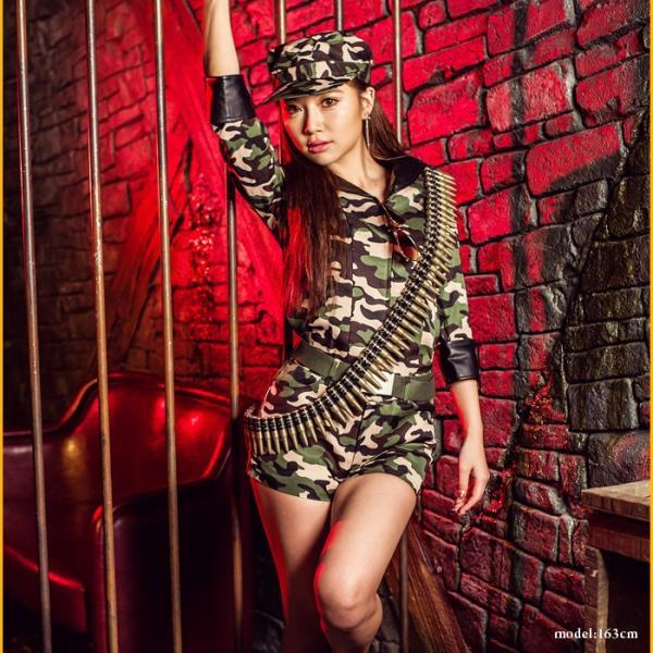 アーミー コスプレ レディースcostume【コスチューム】フル装備迷彩アーミー/全1色6点セット(帽子、シャツ、パンツ、ベルト、弾倉、サングラス)|dita|03