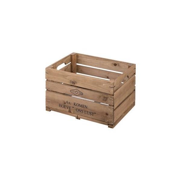 木製 収納ボックス/コンテナボックス 〔幅50×奥行37×高さ30cm〕 杉材 金網 〔リビング 店舗 お店〕