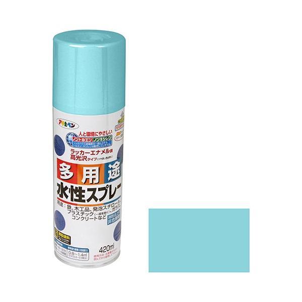 スプレー塗料 水性塗料 300ML 水色 アサヒペン (プラモデル/フィギュア/ジオラマ/発泡スチロール/鉄)