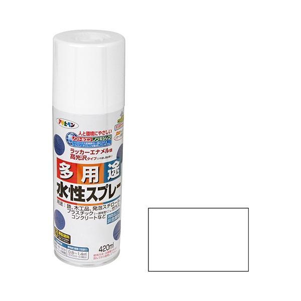 スプレー塗料 水性塗料 300ML 艶消しクリア色 アサヒペン (プラモデル/フィギュア/ジオラマ/発泡スチロール/鉄)