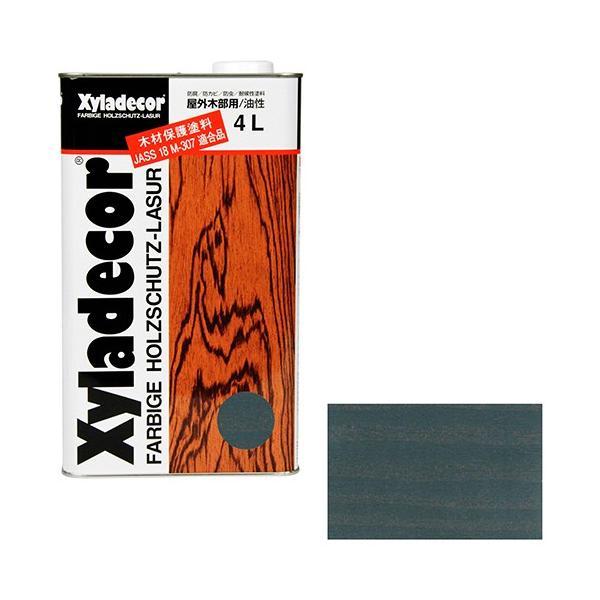 ウッドデッキ 防腐剤 木部の下塗り 色ムラ防止 大阪ガスケミカル・キシラデコール 4L ・109シルバグレイ