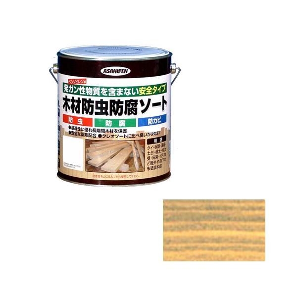 ウッドデッキ 塗料 防虫塗料 防腐剤 アサヒペン・木材防虫防腐ソート・2.5L 透明(クリア)